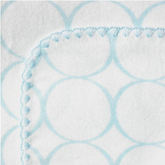 "Swaddle Blanket, Blue Mod Circles, 42"" square"