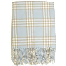 Plaid Blue Baby Receiving Blanket