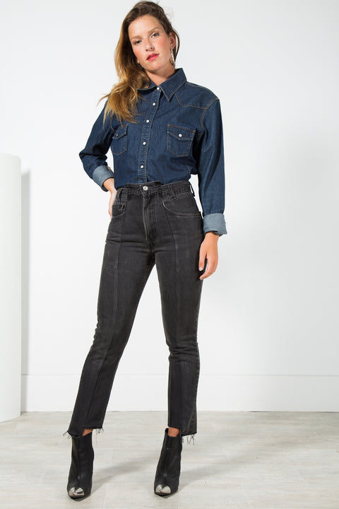 Vintage 80s Reworked Levi's Deconstructed Mom Fit Denim Jeans