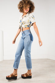 Vintage 80s Levi's Reworked Pocket Mom fit Jeans