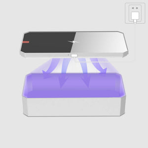 U-Safe box | Premimum UVC Sanitizer with Qi Wireless Charging Pad