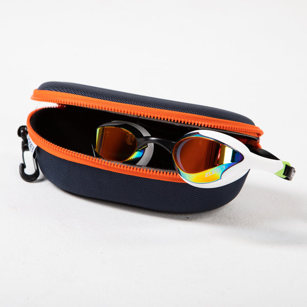 Protective Swim Goggle Case open