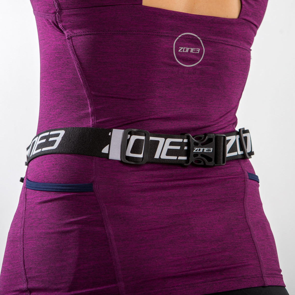 Endurance Number Belt with Neoprene Fuel Pouch and Energy Gel Storage clip