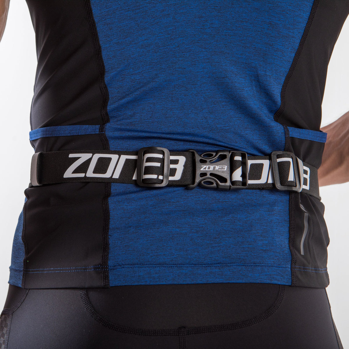 Endurance Number Belt with Lycra Fuel Pouch and Energy Gel Storage clip