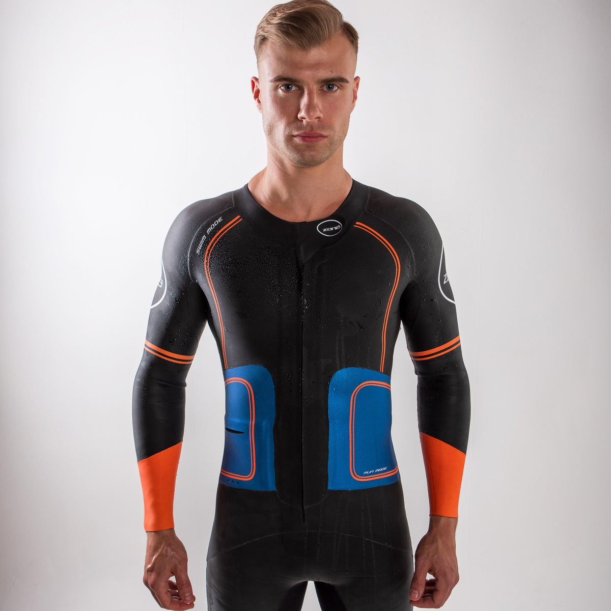 Men's Swim-Run Evolution Wetsuit with 8mm Calf Sleeves body