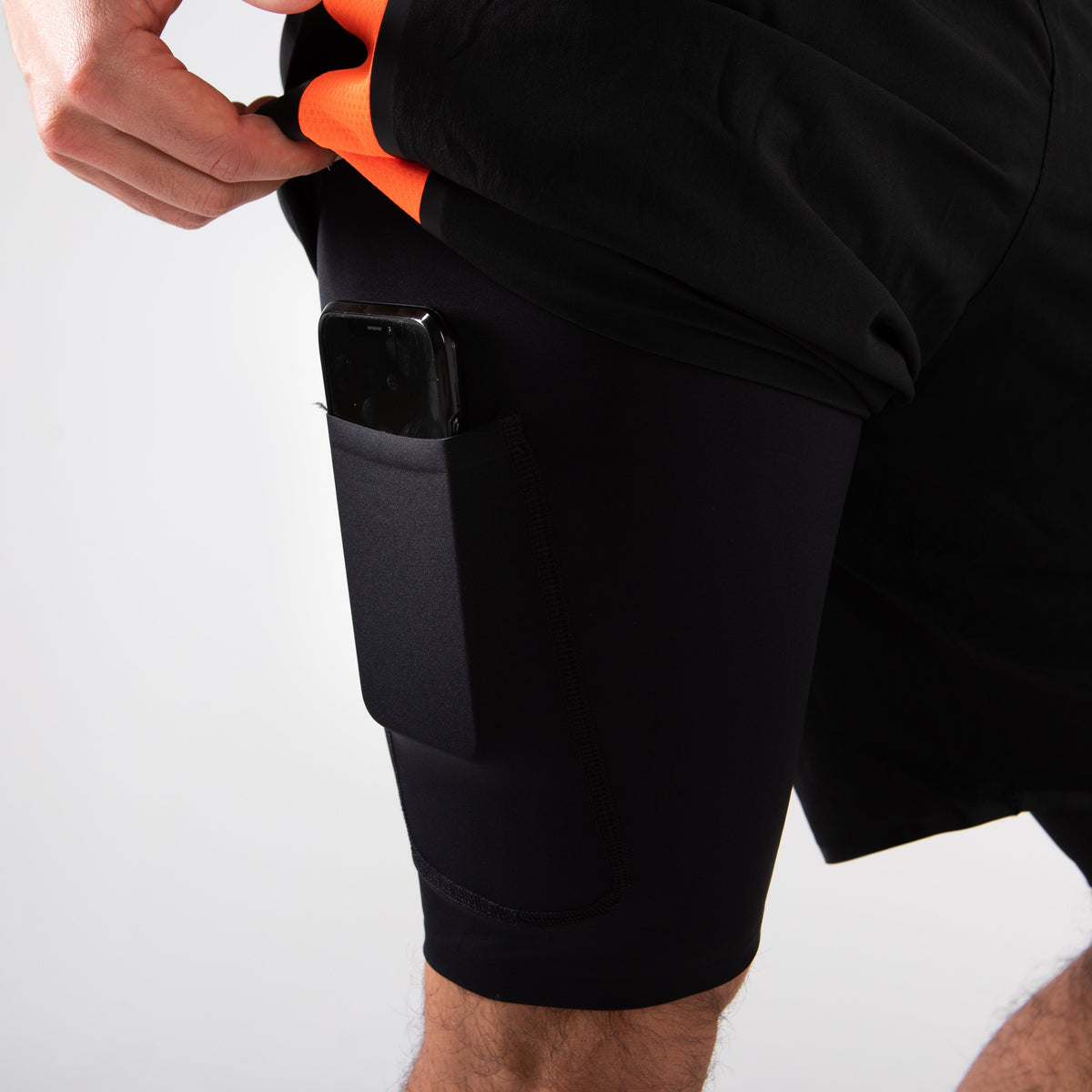 Men's RX3 Medical Grade Compression 2-in-1 Shorts pocket