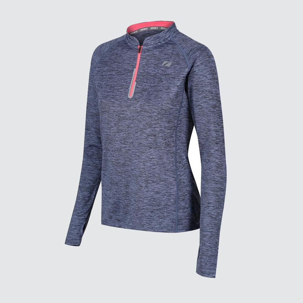 Women's Zip Soft-Touch Technical Long Sleeve T-Shirt
