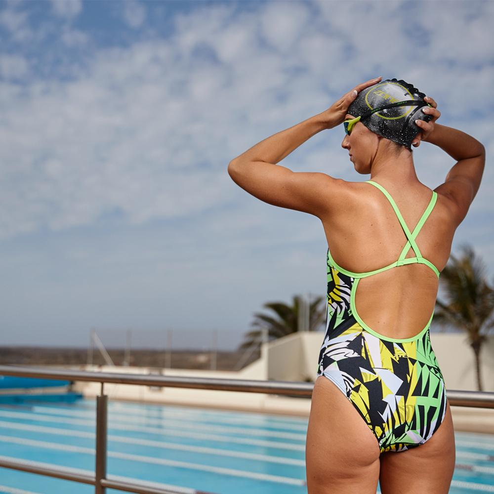 Women's Strap Back Swimming Costume
