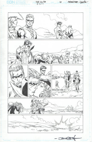 JLA 80 Page Giant page 10 Adrian Syaf Pencils with John Dell Inks