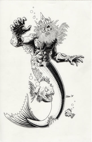 Merman by Alec Fritz (Pensacon Shirt Design) 11x17