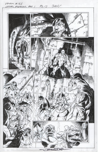 Venom #155 page 12 Mark Bagley Pencils and John Dell Inks