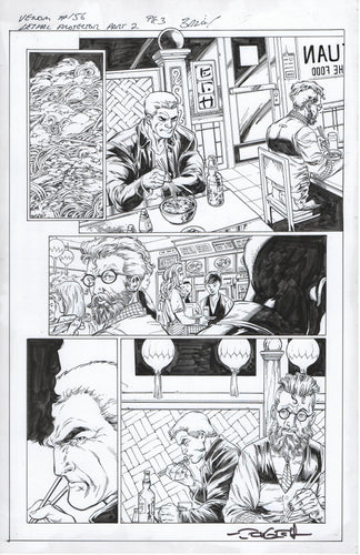 Venom #156 page 3 Mark Bagley Pencils with John Dell Inks