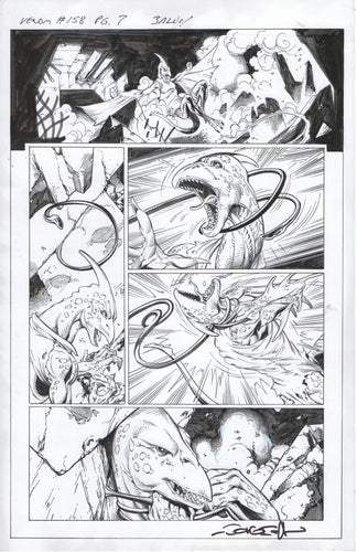 Venom #158 page 7 Mark Bagley Pencils with John Dell Inks