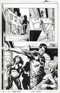 Wonder Woman #45 pg 13 David Finch Pencils with Jonathan Glapion Inks
