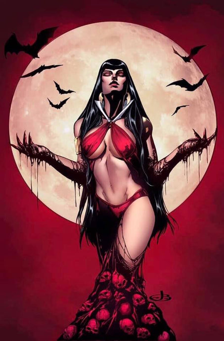 Vampirella 1 Jen Broomall Virgin Variant with Colors by Ula Mos (Preorder)