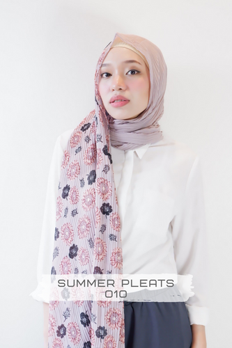 Summer Pleats Long Shawl Hijab | YELENA.PH