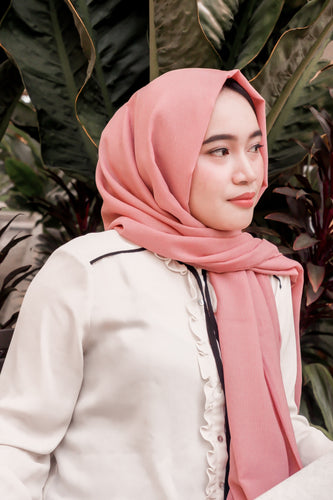 Cornskin Plain Long Shawl Hijab | YELENA.PH