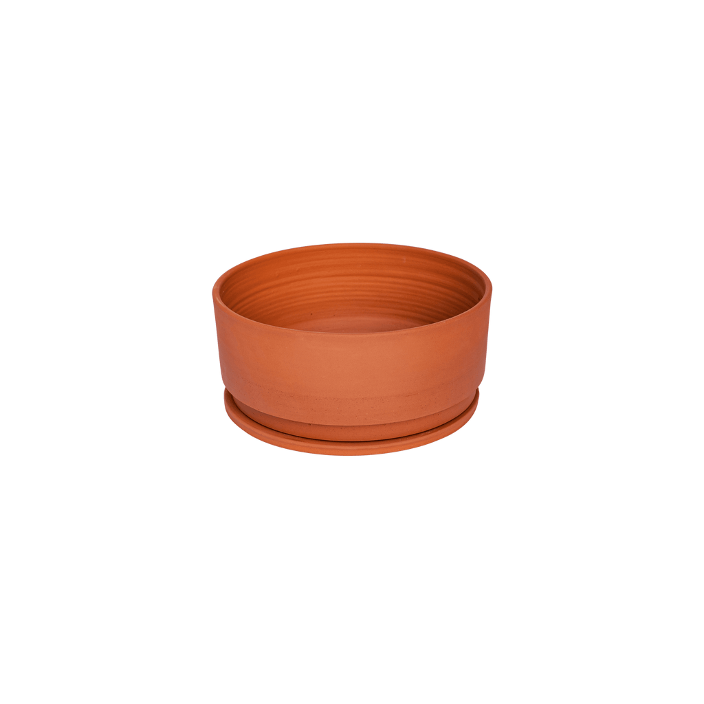 Undercut Low Pot by Anchor Ceramics