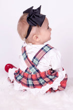 Load image into Gallery viewer, Exclusive Girls Tartan Romper With Ruffle Bum And Shirt Designed By Henry's Wardrobe