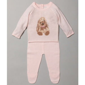 Baby Girls Fine Knit Outfit With Flopsy Bunny