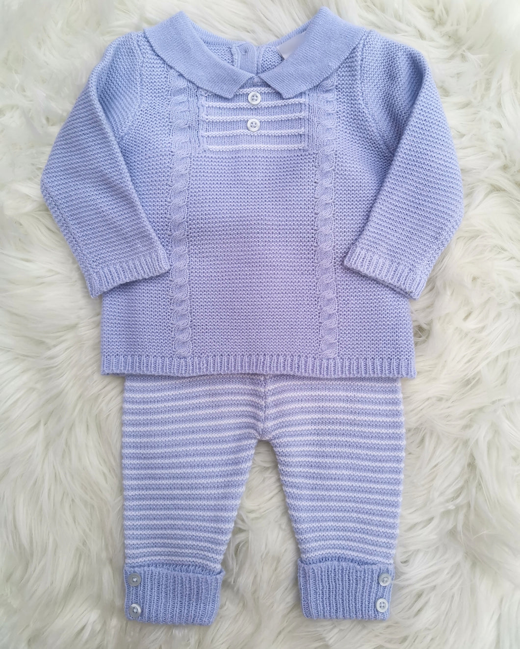 Baby Boys Cable Knit Outfit