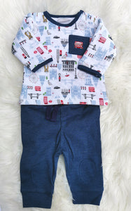 Baby Boys London Print Outfit
