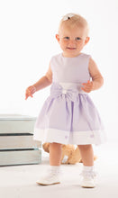 Load image into Gallery viewer, Lilac Girls Dress With Bow And Flower Embellishments
