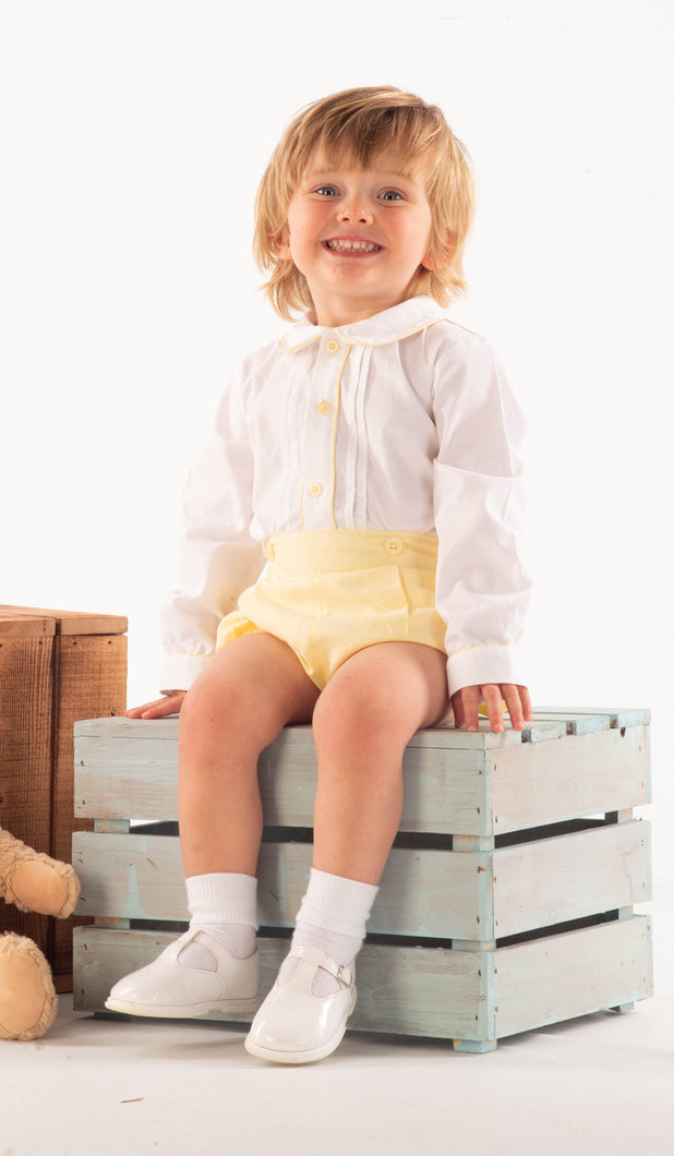 Traditional Boys Lemon Jam Pants and Shirt Set