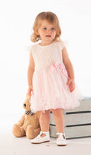 Load image into Gallery viewer, Girls Pale Pink Dress With Layered Net Skirt And Matching Bloomers By Mintini