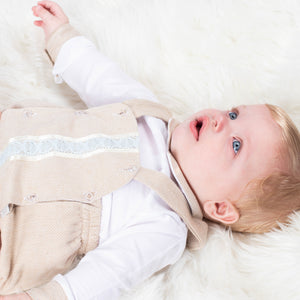 Boys Traditional Romper With Matching Shirt
