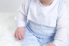 Load image into Gallery viewer, Spanish Style Velour Baby Boys Sleepsuit With Shirt And Train Detail