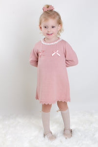 Dusky Pink Fine Knit Dress By Bluesbaby
