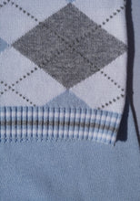 Load image into Gallery viewer, Blue And Grey Knitted Two Piece Set By BLUES BABY