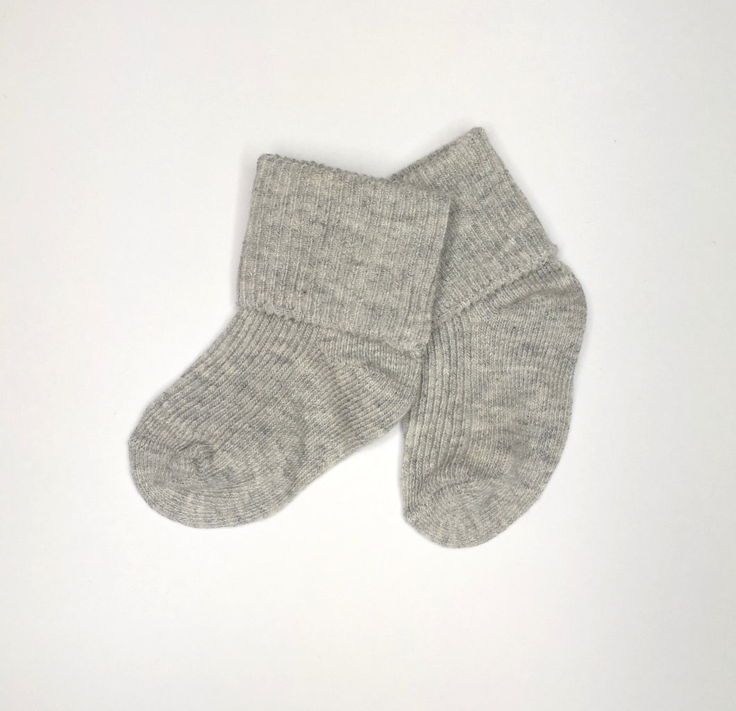 Grey Baby Ankle Sock
