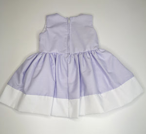 Lilac Girls Dress With Bow And Flower Embellishments