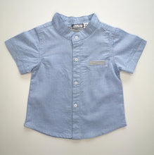 Load image into Gallery viewer, Traditional Blue Shirt And Short Set With Pocket Detail