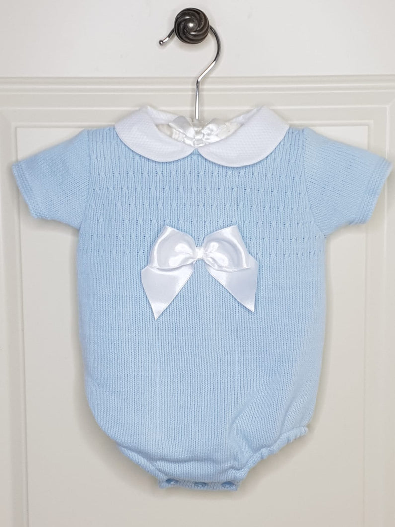 Baby Blue Spanish Knit Romper