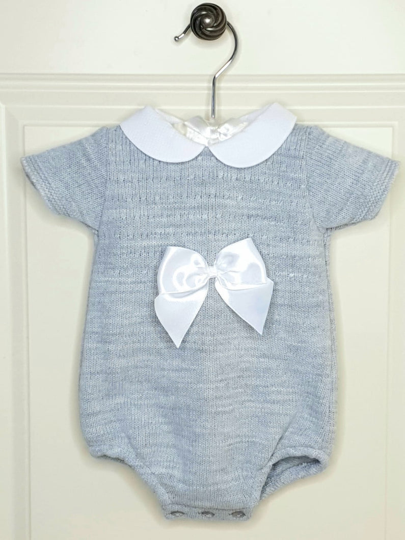 Grey Spanish Knit Romper