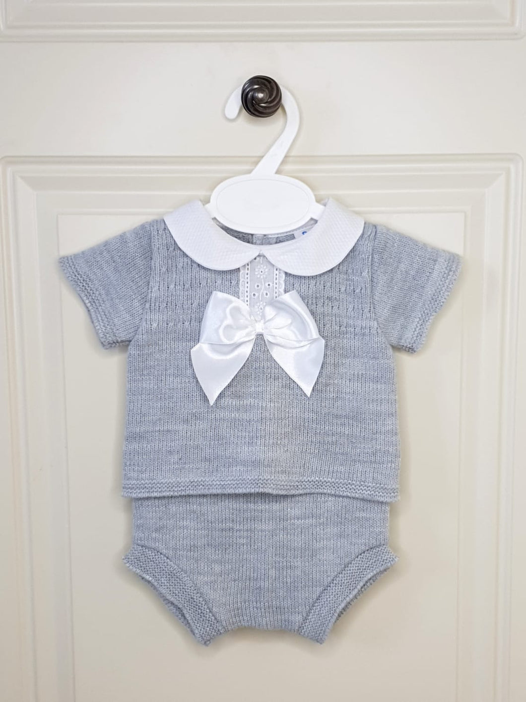 Grey Spanish Knit 2 Piece Set