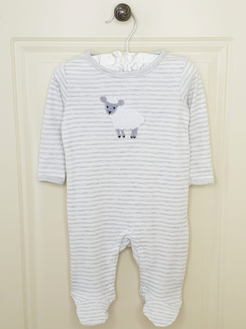 Unisex Baby Crochet Little Lamb Sleepsuit