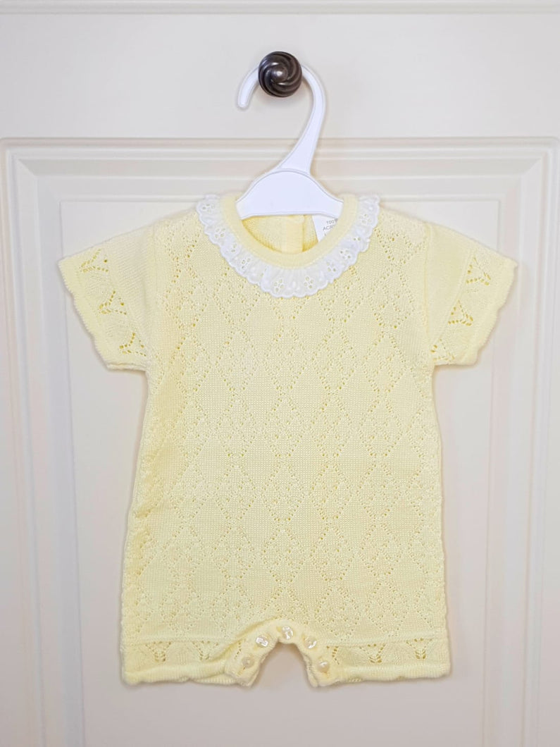 Girls Lemon Knitted Romper