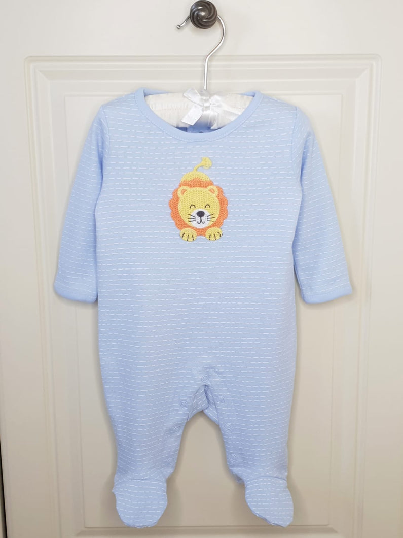 Baby Boys Crochet Lion Sleepsuit