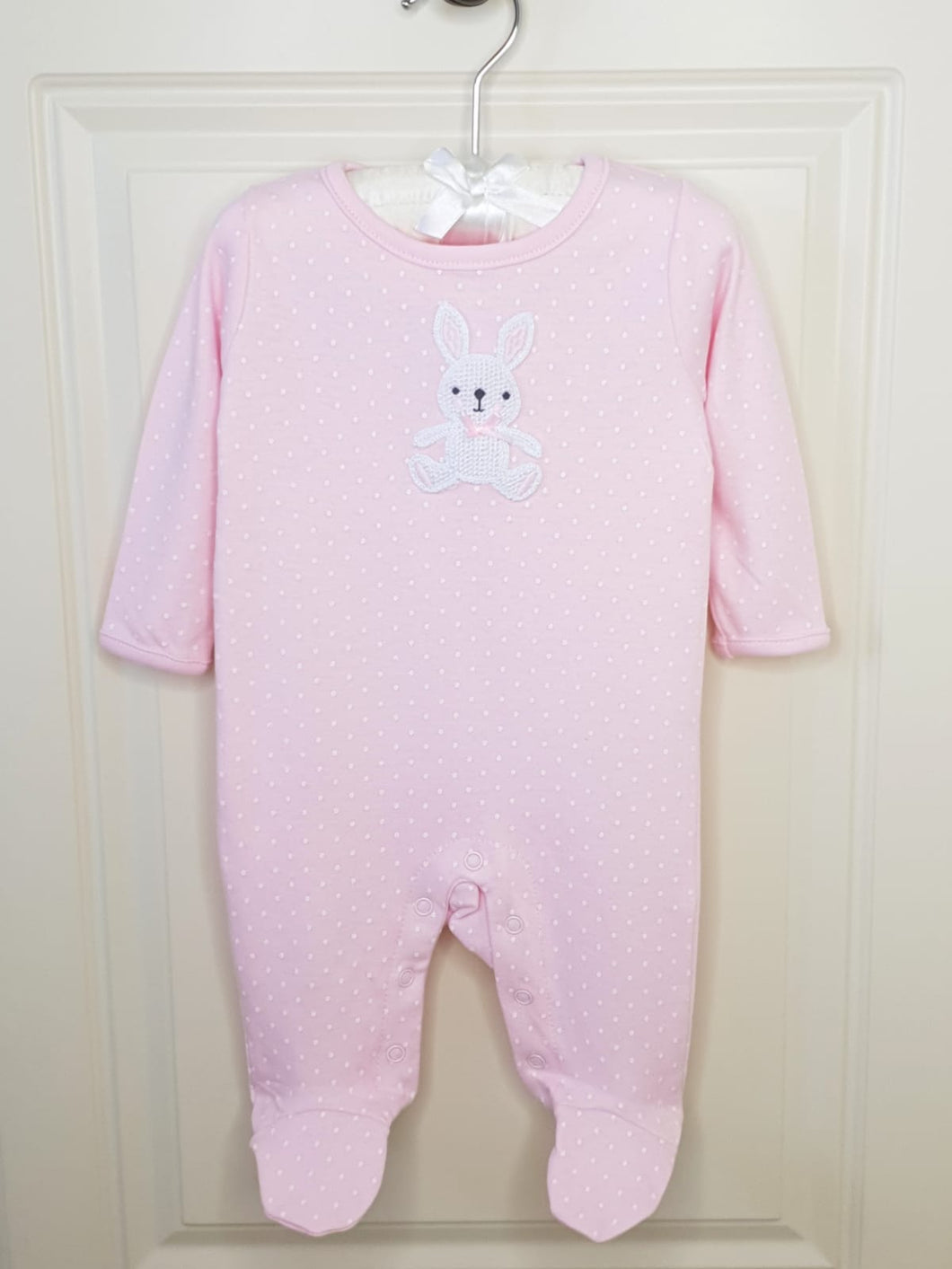 Baby Girls Crochet Bunny Sleepsuit