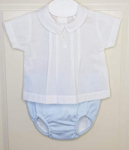 Portuguese Boys Blue Jam Pants Set With Shirt