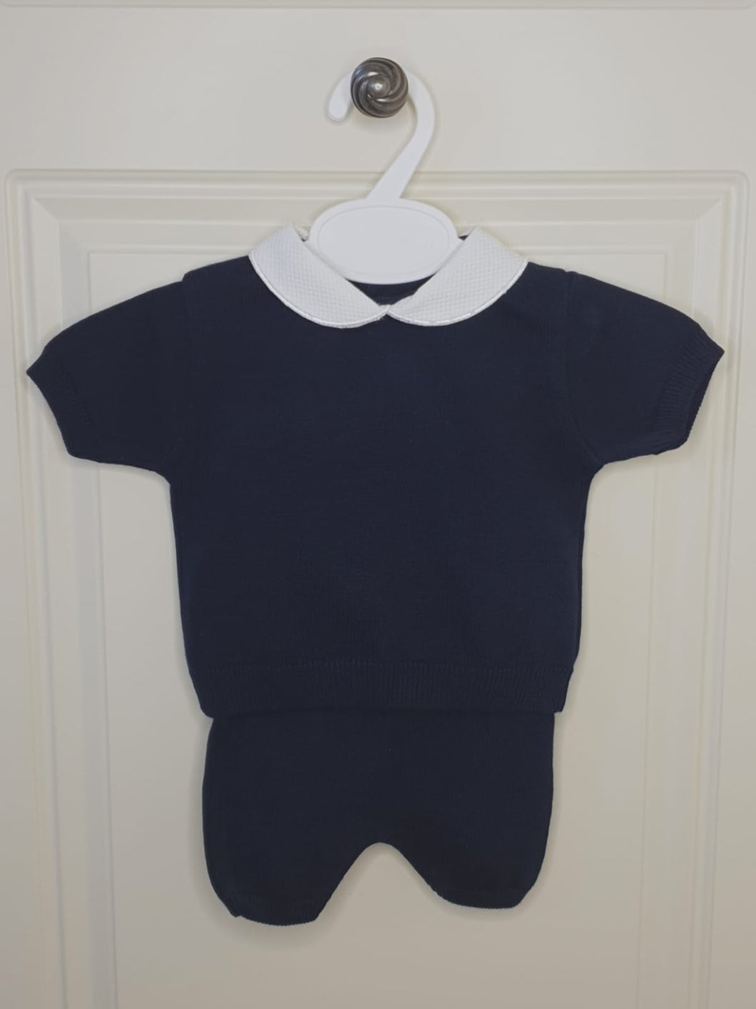 Boys Traditional Dark Navy Fine Knit Outfit