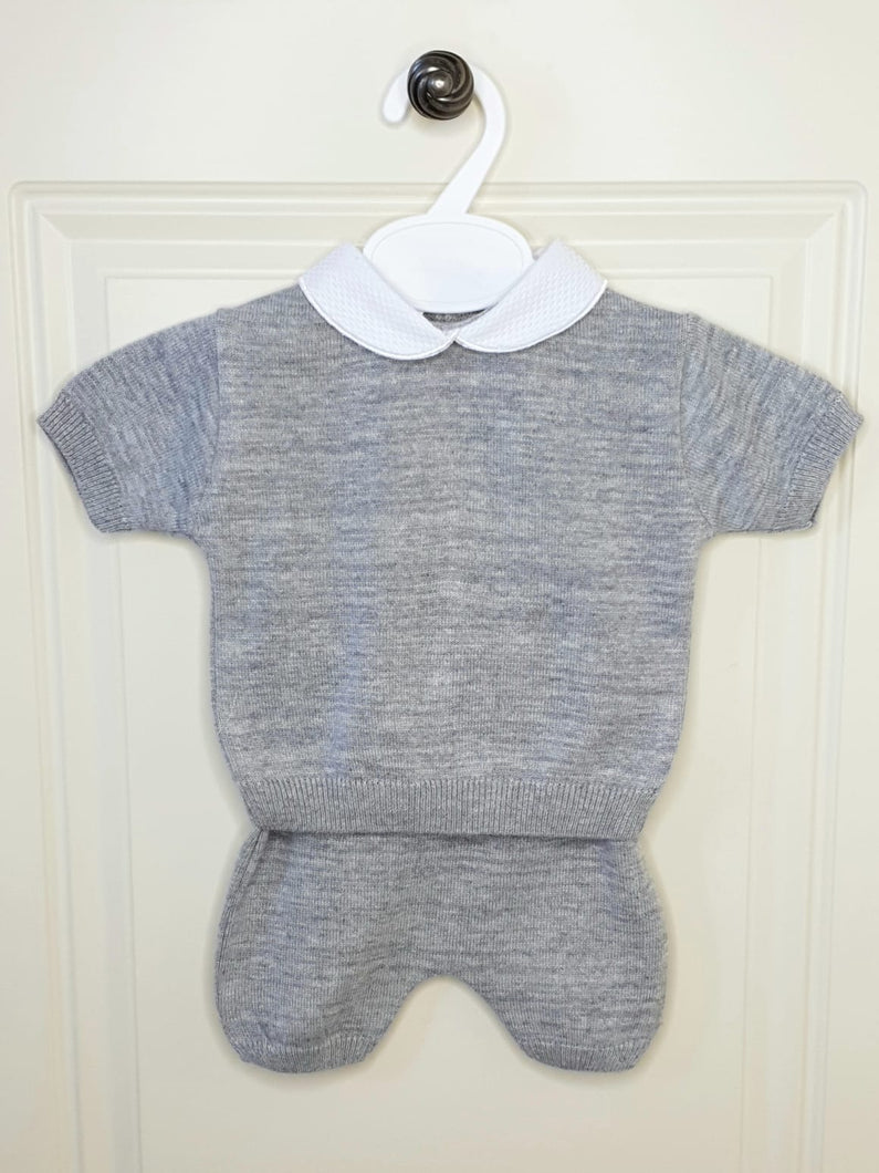 Boys Traditional Grey Fine Knit Outfit