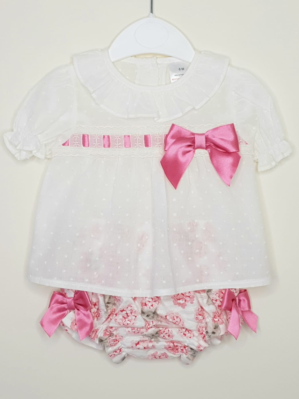 Girls Blouse With Jam Pants And Bows