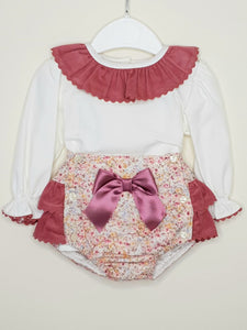 Portuguese Layered Frill Jam Pants With Shirt And Bow