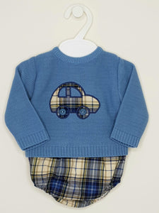 Vintage Car Jumper And Jam Pants