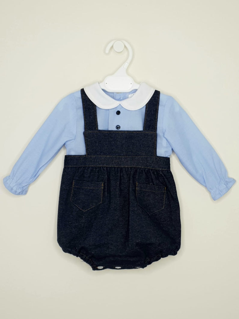 BABY-FERR - Boys Traditional Style Romper With Shirt